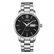 Cadisen C1032 Men Stainless Steel Brand Clock Automatic Watch BLACK