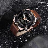 NAVIFORCE Luxury Brand Men Fashion Sports WristWatches BROWN