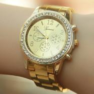 A Diamond-Inlaid Steel with A Quartz Watch GOLD REGULAR
