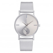XR2924 Ladies Simple Casual Mesh Alloy Watch SILVER