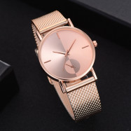 XR2924 Ladies Simple Casual Mesh Alloy Watch ROSE GOLD