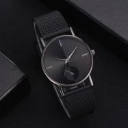 XR2924 Ladies Simple Casual Mesh Alloy Watch BLACK