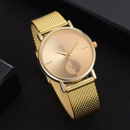 XR2924 Ladies Simple Casual Mesh Alloy Watch GOLD