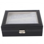 New 10 Grid Simple Atmosphere Watch Box BLACK