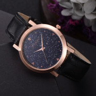 Lvpai P380 Women Starry Romantic PU Quartz Watch BLACK