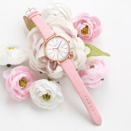 Lvpai P355 Women Three Eyes Business Leather Wrist Watches PINK