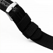 Watch Straps Premium Nylon Quick Release Replacement Watch Bands BLACK 18MM