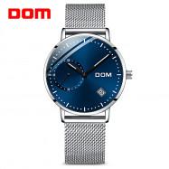 DOM M - 302BK - 7M Fashionable Stainless Steel Strap Men Quartz Watch BLUE