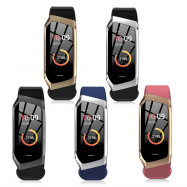 E18 Smart Heart Rate Bracelet Sports Watch  GUNMETAL REGULAR