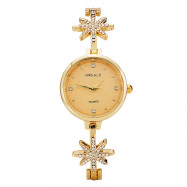 GrealyWomen Luxurious Diamond-inlaid Watch Star-decorated Bracelet Fashion Watch GOLD
