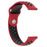 22MM Replacement Soft Silicone Sport Watch Band Strap For Galaxy Watch 46MM RED
