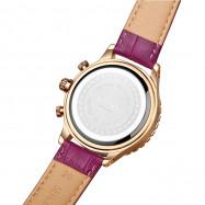 AIMASI 9005 Trendy Genuine Leather Band Women Quartz Watch PURPLE