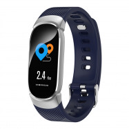 Qw16 Smart Bracelet Continuous Heart Rate Sleep Monitoring Step NAVY BLUE