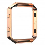 Stainless Steel Watch Case Frame Protective Case For Fitbit Blaze Smart Watch ROSE GOLD