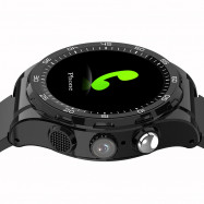 M15 4G Smartwatch Phone 1.3 inch Android 6.0 MTK6737 Quad Core 1.1GHz 1GB RAM 8GB ROM IP65 Waterproof 730mAh Built-in Sedentary Reminder BLACK