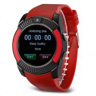 V8 HD IPS Screen Smart Watch Health Sleep Sports Monitoring RED