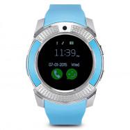 V8 HD IPS Screen Smart Watch Health Sleep Sports Monitoring MIST BLUE