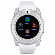 V8 HD IPS Screen Smart Watch Health Sleep Sports Monitoring PLATINUM