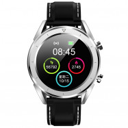 NO.1 DT28 Smart Watch 1.54 inch Nordic NRF52832 64KB RAM 512KB ROM Heart Rate Monitor Step Count Sedentary Reminder IP68 230mAh Built-in SILVER SILICONE STRIP