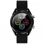 NO.1 DT28 Smart Watch 1.54 inch Nordic NRF52832 64KB RAM 512KB ROM Heart Rate Monitor Step Count Sedentary Reminder IP68 230mAh Built-in BLACK STEEL STRIP