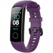 Silicone Watch Strap for HUAWEI Honor Bracelet 4 PURPLE IRIS