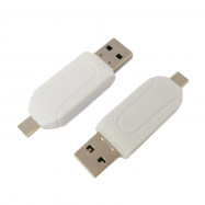 GT-136 High Quality 2 in 1 Micro USB TF SD Card Reader for Desktop Laptop