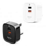 Baseus Funzi QC 3.0 Dual USB Smart Travel Charger UK Plug
