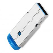 Mini Metal USB 2.0 Micro SD / TF Card Reader - Blue