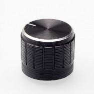 5PCS Aluminum Alloy Potentiometer Knob 6mm Mounting Hole