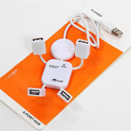 New 4 Port Hub High-Speed USB1.1 Humanoid Splitter Cable Adapter For Laptop PC