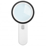 Handheld LED 30X Magnifying Glass Illuminated Light Magnifier with 12 Beads
