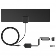 TY25 Flat High Gain HDTV High-definition Digital TV Antenna DVB-T2 with Signal Amplifier