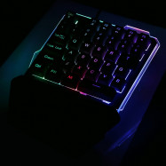 7Pin G40 Wired Gaming Keypad with LED Backlight 35 Keys One-handed Keyboard