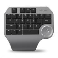 Delux T11 Wired Designer Keypad 28 Keys Keyboard with Smart Knob