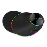 Delux M618 Plus Wired Vertical Mouse with Colorful RGB Light 4000DPI