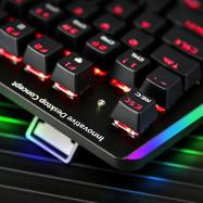 MVTV TK300 Wired Waterproof Mechanical Gaming Keyboard RGB Backlight 104 Keys