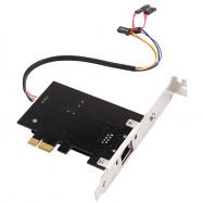 2-in-1 PCI-E Gigabit Network Card