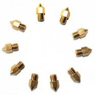 MK8 3D Printer Nozzle 0.4mm for Creality 3D Anet Alfawise JGAURORA Tronxy Geeetech TEVO 5PCS