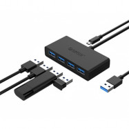 USB-C TO 5IN1 HUB BLACK  PERP