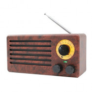 Newrixing NR - 3013 Solid Wood Pattern Wireless Bluetooth Speaker Radio
