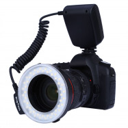 RF550 Macro LED Ring Flash with LCD Display Power Control for Canon Nikon DSLR Cameras