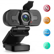 W8 S Webcam 1080P Computer Camera with Privacy Cover USB Connection Built-in Noise-reduction Microphone for Live Video
