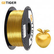 GBTIGER 3D Printer Filament Silk PLA 1.75mm 1kg Spool Shiny Gold High Precision for Any Artware