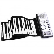 Trendy Flexible 61 Keys Silicone MIDI Digital Roll-up Keyboard Piano