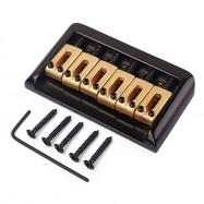 Brass Saddle 6 String Fixed Hard Tail Hardtail Guitar Bridge