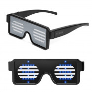LED Glasses Grow Party Favor Super Cool Light Up Glasses with Display Pattern