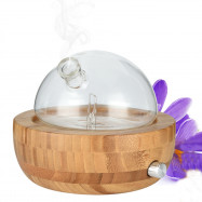 Natural Bamboo Glass Essential Oil Nebulizer Aromatherapy Diffuser Humidifier
