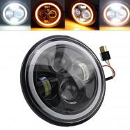 7inch Round  Beam Headlights Halo Angle Eyes For Jeep 97-15 Wrangler JK/TJ/LJ