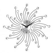 Silent Crystal Metal Wall Clock Home Art Decor Diameter 32cm