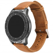22MM Genuine Leather Watch Band Strap For Samsung Gear S3 Frontier / Classic